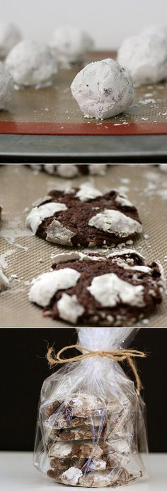 Hacking a chocolate marshmallow crinkle cookie recipe from Williams-Sonoma for the perfect (inexpensive) holiday treat!