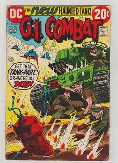 Combate GI; Vol 1, 156, libro de historietas de la edad del bronce. FN-.  Noviembre de 1972.    cubierta de Joe Kubert