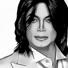 Michael Jackson Digital Art Portrait by David Alexander Elder by David Alexander Elder