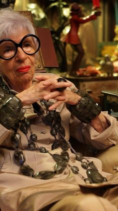 Style & Design Icon: Iris Apfel…  Iris Apfel Documentary.  On Amazon????  Can't wait--will watch asap!