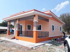 Brick House Designs, Narrow House Designs, House Front Design, Small House Design, Minimal House Design, Classic House Design, Beautiful House Plans, Simple House Plans, House Paint Exterior