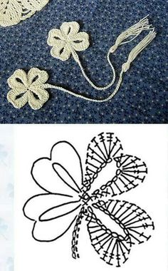 crochet clover leaf diagram The Effective Pictures We Offer You About tricot et crochet A quality pi Marque-pages Au Crochet, Crochet Diagram, Crochet Books, Freeform Crochet, Thread Crochet, Love Crochet, Crochet Doilies, Irish Crochet Charts, Irish Crochet Tutorial