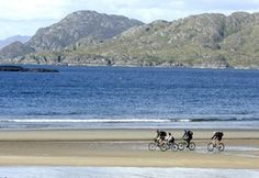 when you're not taking language classes at CLCC - go cycling on one of Connemara's beautiful beaches! Cycle Ride, Here On Earth, Connemara, Beautiful Beaches, Dublin, Ireland, Cycling, Scenery, Around The Worlds