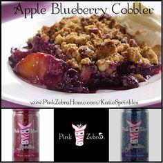 """Apple Blueberry Cobbler"" 1/2 Warm Apple Pie, 1/2 Blueberry Muffin  www.PinkZebraHome.com/KatieSprinkles #PinkZebra #Sprinkles #Recipes"