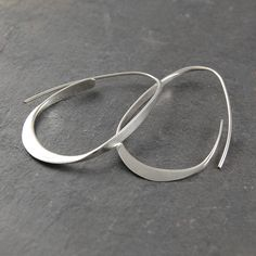 Curl Sterling Silver Hoops from notonthehighstreet.com