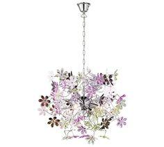 lampen Hanglamp met gekleurde bloemen hanglamp. Barco, Emmen.
