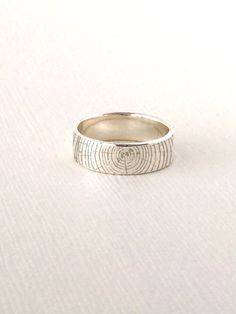 Woodland message ring/Custom Personalized ring/Engraved ring, sterling silver by NaosAccessories on Etsy