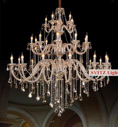 Lights & Lighting Chandeliers Buy Cheap Duplex Floor 30-head Modern Chandelier Lighting Crystal Lamp 1.5m Long Large Luxury Glass Chandelier Led Lamp Hall E14