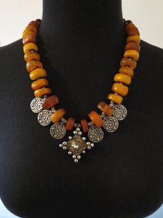 Exquisite Antique Moroccan Amber Necklace by GEMILAJewels on Etsy