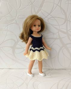 Clothes for mini dolls Paola Reina, doll 8,27 inch/21cm crochet dress for doll clothing Barbie Clothes, Barbie Dolls, Doll Shop, Dress With Cardigan, Handmade Dresses, Crochet Cardigan, Dress Making, Curvy, Flower Girl Dresses