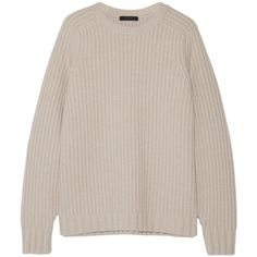 The Row Keyes ribbed wool and cashmere-blend sweater (€515) ❤ liked on Polyvore featuring tops, sweaters, knitwear, the row, свитер, loose sweaters, oversized tops, cashmere blend sweater, ribbed sweater and ribbed top