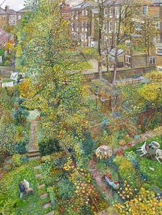 'Autumn Back Gardens', Oil Painting by Melissa Scott-Miller, NEAC RP ~New English Art Club .....