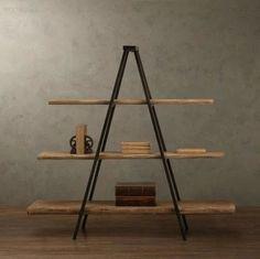 Loft estilo industrial país da américa para fazer a vindima antigas forjado ferro prateleira estante de madeira estante prateleira de exposição(China (Mainland))