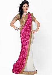 Saree Swarg Pink Embroidered Saree Online Shopping Store