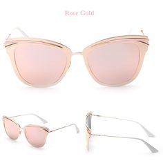Item Type: Eyewear Eyewear Type: Sunglasses Department Name: Adult Gender: Women Style: Cat Eye Lenses Optical Attribute: Mirror Frame Material: Alloy Frame Color: Multi Lens Width: 5.2 cm Lens Height