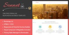 Review Sonnet One Page Wordpress Multipurpose Portfolioyou will get best price offer lowest prices or diccount coupone
