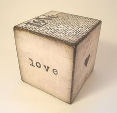 Love block   Put your names on it, write a love poem, date you met...great sentimental give.