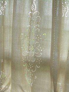 Great Linen Crochet Lace Curtain