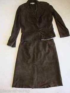 This item sold on eBay after being pinned on pinterest. Email me for an invite to this board and start pinning your items for sale on eBay    BROOKS BROTHERS Womans Outfit Suit 14 Skirt Jacket Career Dress Goat Suede Lined #BrooksBrothers #Suit