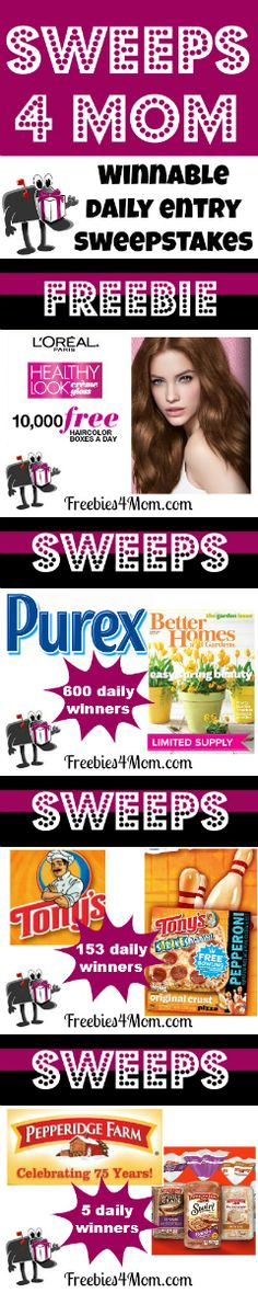 The luckiest sweepstakes to enter daily (posted March 11) http://freebies4mom.com/2013/03/11/s4mmarch11/
