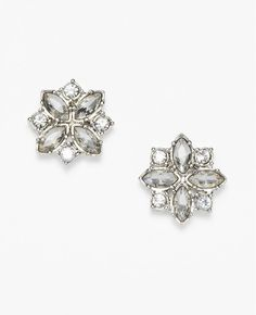 Crystal Cluster Stud Earrings | Ann Taylor