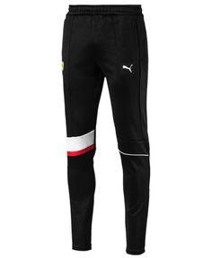 Puma Men's Ferrari Track Pants - Black S Mens Sweatpants, Joggers, Mens Dress Pants, Pants Outfit, Track Pants Mens, Baby Clothes Shops, Men Clothes, Puma Mens, Mens Activewear