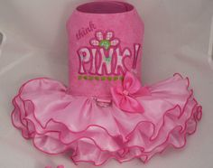 Small dog harness dress. Tutu skirt. Think Pink by poshdog on Etsy, $55.00
