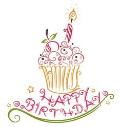Happy Birthday Sign Discover Birthday muffin vector - by christine-krahl on VectorStock Birthday Blessings, Birthday Wishes Quotes, Happy Birthday Messages, Happy Birthday Greetings, Birthday Clips, Birthday Love, Happy Birthday Mama, Happy Birthday Vintage, Happy Birthday Pictures