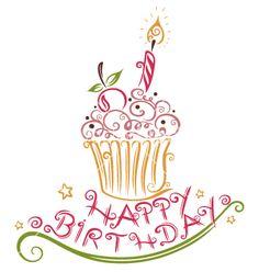 Birthday muffin vector - by christine-krahl on VectorStock®