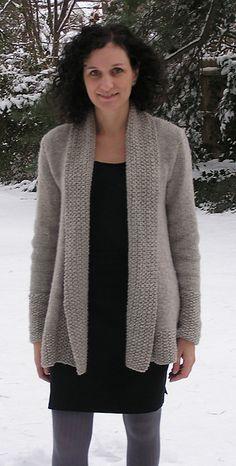 Ravelry: London Bridges Cardigan pattern by Nancy Eiseman knit in Cascade Yarns Ecological Wool® Knitting Patterns, Crochet Patterns, Knit Cardigan Pattern, Knit Jacket, Vogue Knitting, Pulls, Knitwear, Knit Crochet, Sweaters For Women