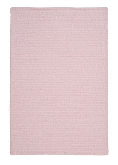 Solid Chenille Pink Area Rug