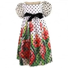 Love Made Love Poppies Dress With Dot White