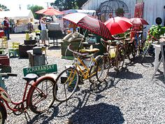 Outdoor flea market