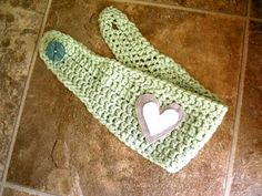 Sweet Green Crocheted Headband with hand by EmilysPrettyThings, $16.00