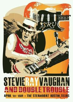 Concert Posters # 12 - 8 x 10 T-shirt iron-on transfer Stevie Ray Vaughan Tour Posters, Band Posters, Film Posters, Bruce Dickinson, Steve Ray Vaughan, Vintage Concert Posters, Vintage Posters, Vintage Movies, Jazz