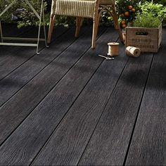 Outdoor Decking, Back Deck, Tile Floor, Garden Ideas, Patio, Wall, Design, Tile Flooring