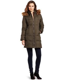 50% Off was $200.00, now is $100.00! Larry Levine Women's Hooded Down Coat + Free Shipping