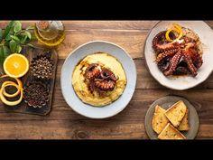 Χταπόδι με βαλσαμικό ξίδι με μέλι και πορτοκάλι – Kalamata Papadimitriou How To Cook Fish, Hummus, Waffles, French Toast, Cooking Fish, Breakfast, Ethnic Recipes, Youtube, Food