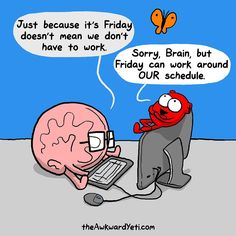 Brain & Heart from The Awkward Yeti