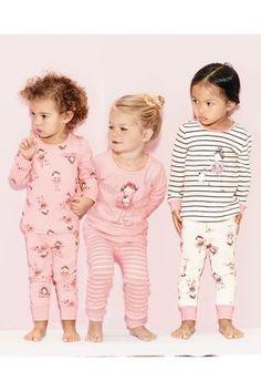 Buy Three Pack Snuggle Fit Ballerina Pyjamas from the Next UK online shop Kids Nightwear, Cute Sleepwear, Girls Sleepwear, Kids Pjs, Kids Girls, Baby Kids, Toddler Pajamas, Girls Pajamas, Baby Girl Fashion