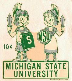 Michigan State University Window Decals, c.  1950's
