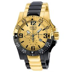 Invicta 20141 Men's Excursion Reserve Gold Dial Two Tone Steel Chronograph Dive Watch