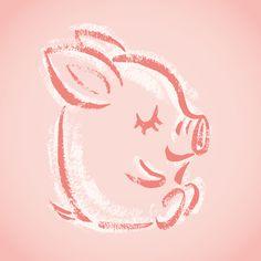 Happy pig on Behance