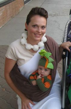 diy halloween costumes wilma and her baby dino for dawn and baby - Aliens Halloween Costume Baby