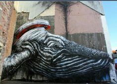 Street Art by ROA, located in Norway