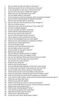 "50 questions to answer in order to ""dig a little deeper"". Not created by me."