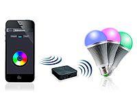 CASAcontrol Beleuchtungs-Set RGB: 3 LED-Lampen E27 inkl. Steuergerät