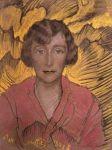 Stanisław Ignacy Witkiewicz (Witkacy), Portret kobiety, 1928 Wystawa stała: Galeria malarstwa polskiego 1800-1945