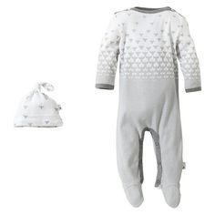 Burt's Bees Baby Organic  Ombre Bee Boatneck Coverall + Hive Hat Set