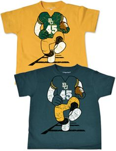 Is your Future Bear ready for #Baylor Football? // College Kids® Baylor University Football Player Toddler T-Shirt